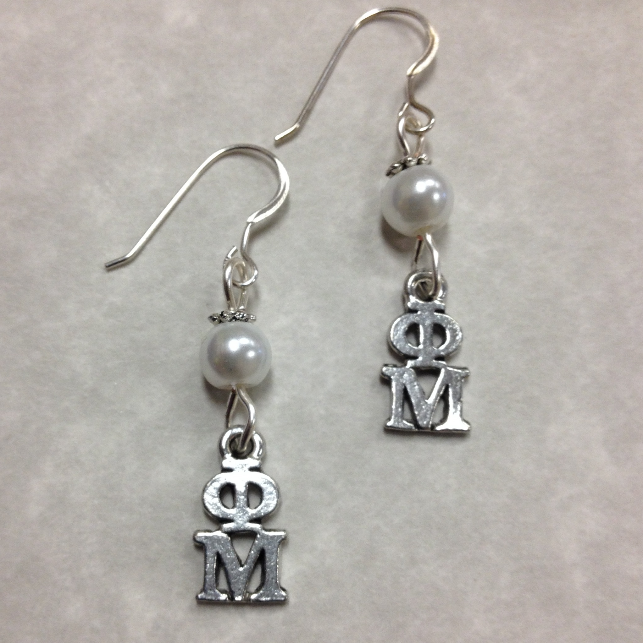 phi mu pearl earrings