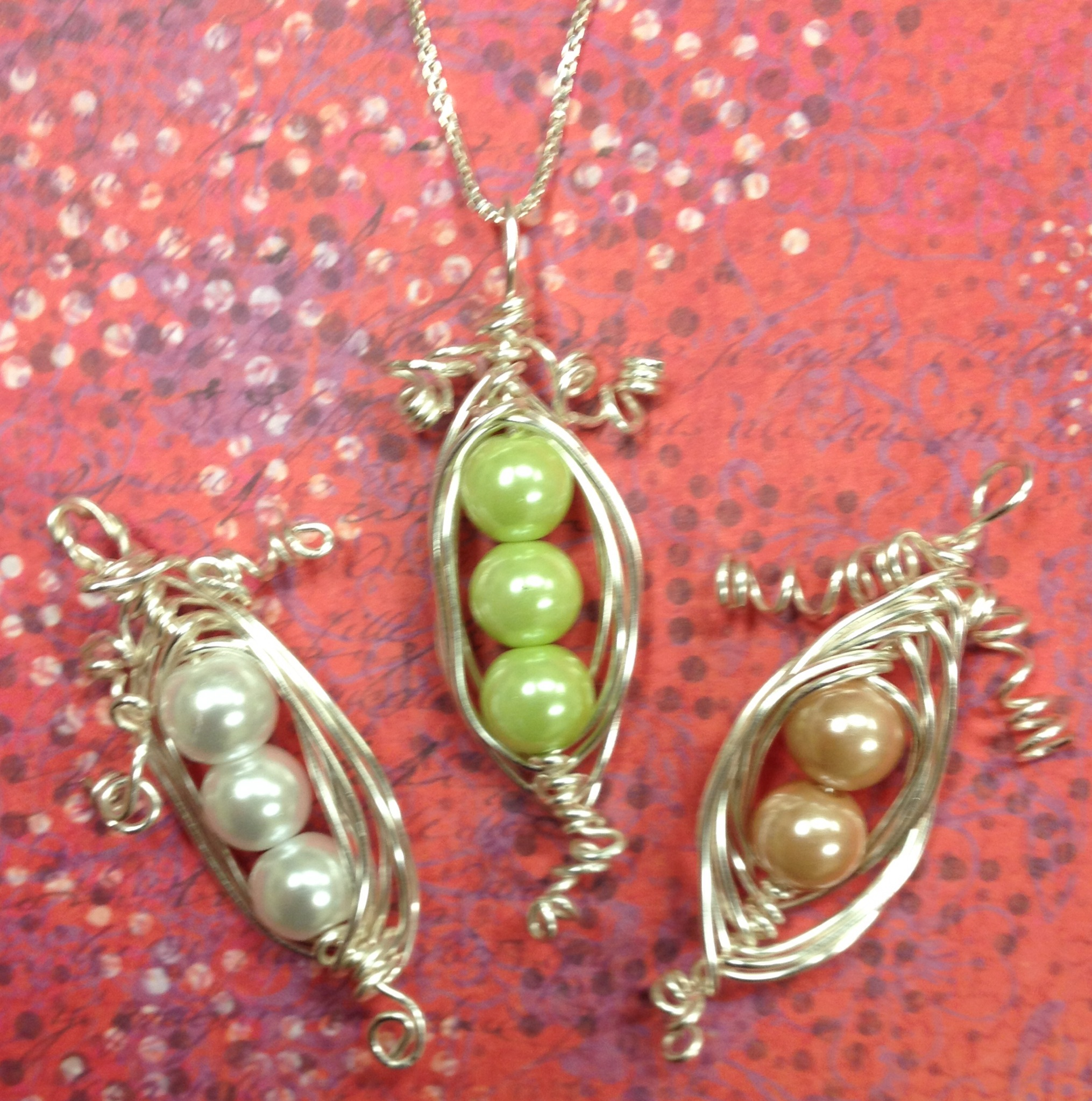 golden necklace tutorial bring a step three loop again in wpid around pea bottom necklaces wire front down the rippy and peas over pod of to