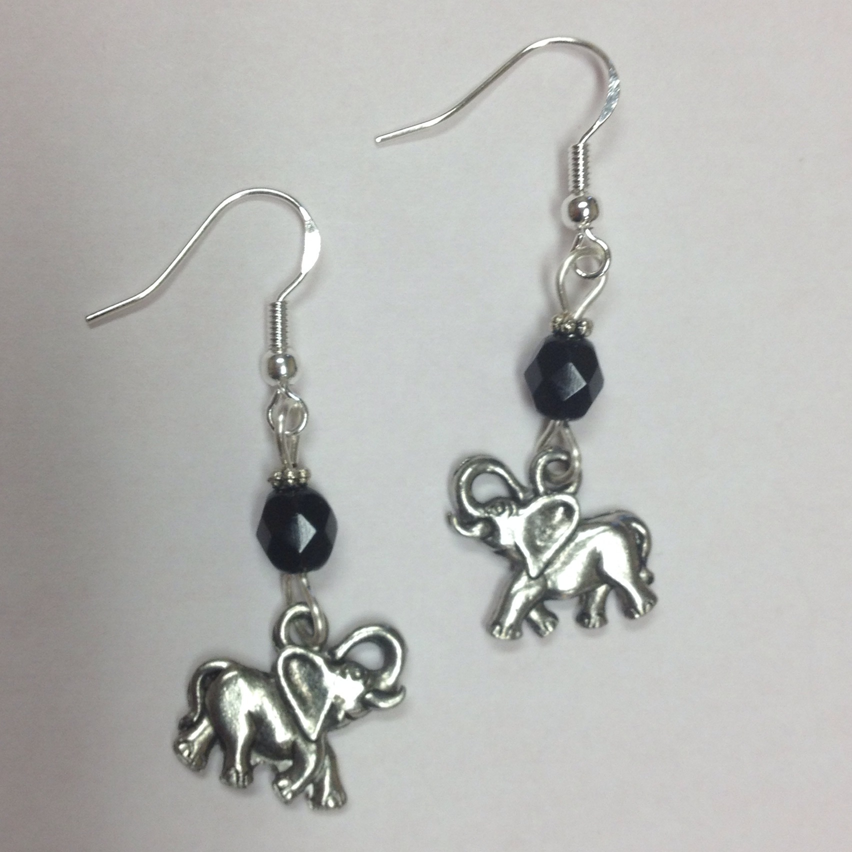 recycled aluminium aluminum earrings elephant
