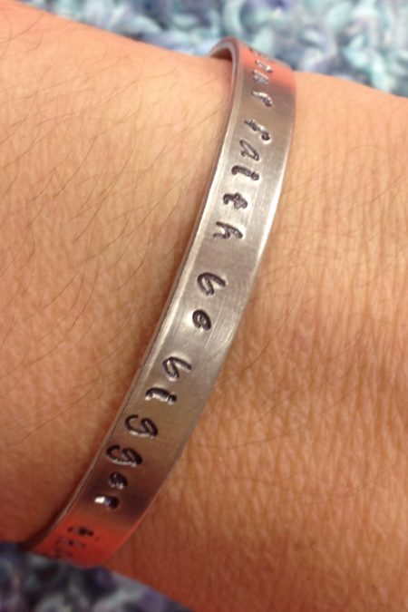 cuff - may your faith be bigger on wrist