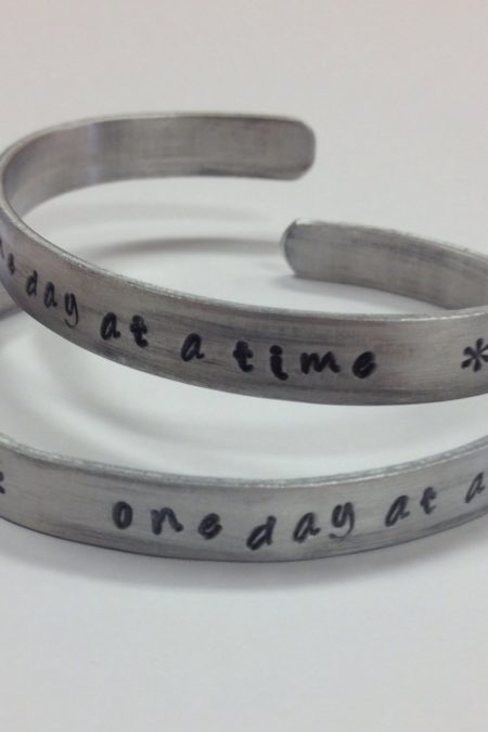cuff - one day at a time, 2 bracelets