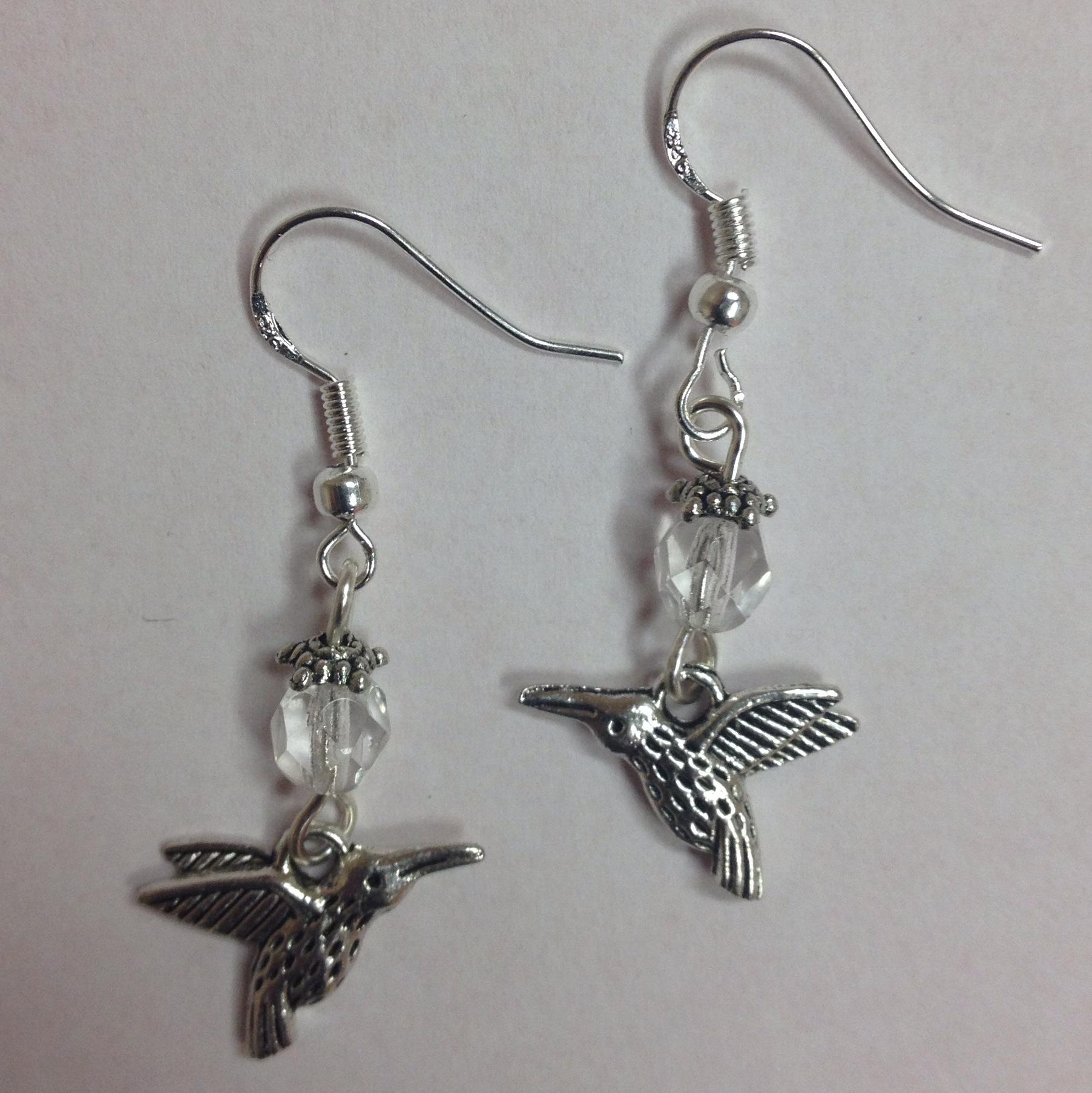 Hummingbird Nature Themed Bird Earrings